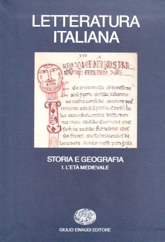 9788806552022: Letteratura italiana. Storia e geografia: 1 (Grandi opere)