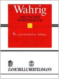 9788808097170: Wahrig. Deutsches Wörterbuch Zanichelli-Bertelsmann