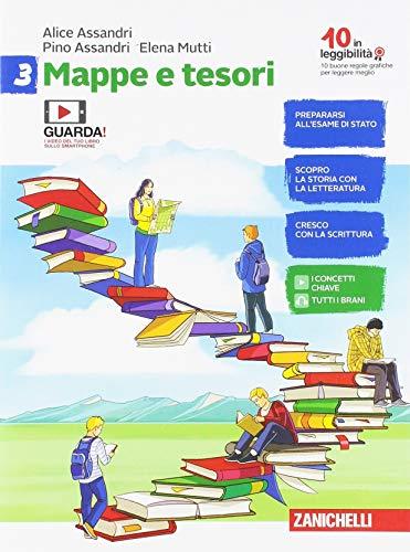 9788808604057: Mappe e tesori. Per la Scuola media. Con e-book: 3