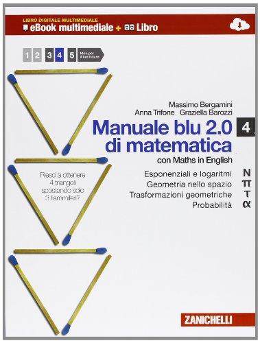 MANUALE BLU 2.0 DI MATEMATICA VOL 4