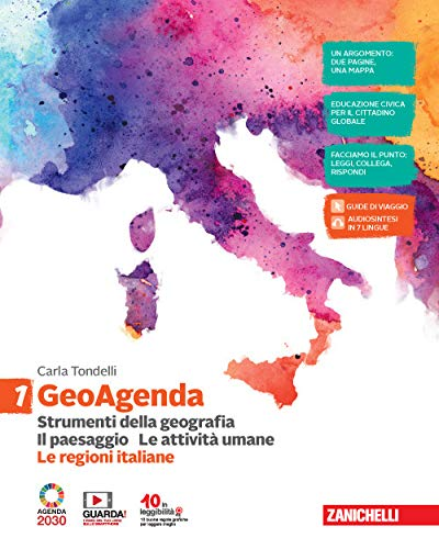 9788808720375: GeoAgenda. Con Le regioni italiane. Per la Scuola media. Con e-book. Con espansione online. Strumenti della geografia. Il paesaggio. Le attività umane (Vol. 1)