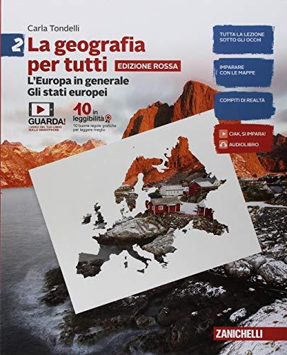 9788808727190: La geografia per tutti. Ediz. rossa. Per la Scuola media. Con e-book: 2
