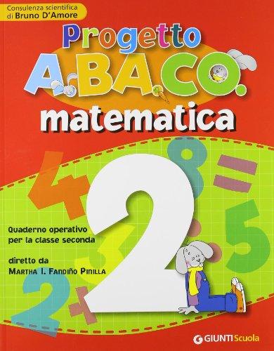 9788809042315: Progetto A.BA.CO. Matematica. Quaderno operativo. Per la 2ª classe elementare