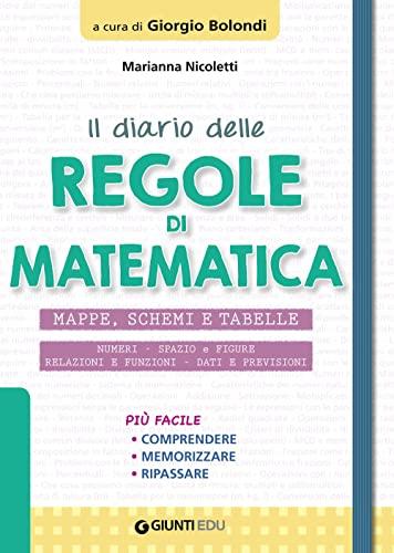 9788809881150: Il diario delle regole di matematica