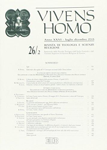 9788810908501: Vivens homo (2015): 26\2