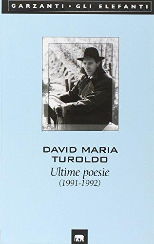 9788811669548: Ultime poesie (Gli elefanti) (Italian Edition)