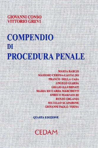 9788813281526: Compendio di procedura penale
