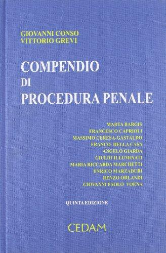 9788813299743: Compendio di procedura penale