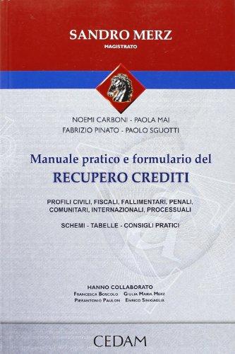 9788813315801: Manuale pratico e formulario del recupero crediti. Profili, civili, fiscali, fallimentari, penali, comuntari, internazionali, processuali. Schemi-Tabelle-Consigli.