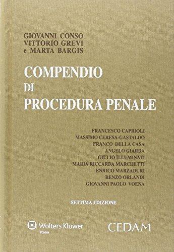 9788813347864: Compendio di procedura penale