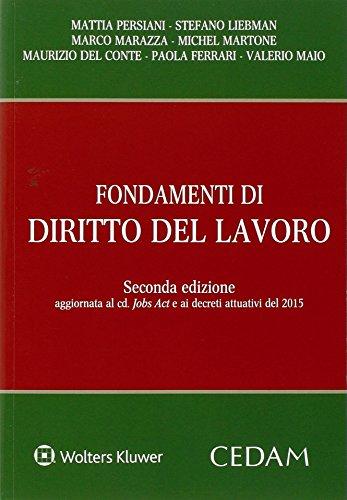 9788813360597: Fondamenti di Diritto del Lavoro Seconda Edizione