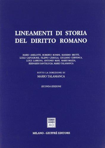 9788814018237: Lineamenti di storia del diritto romano