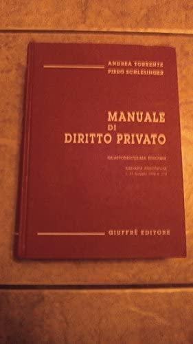 manuale diritto privato by piero schlesinger abebooks rh abebooks co uk manuale diritto privato torrente riassunto manuale diritto privato pdf