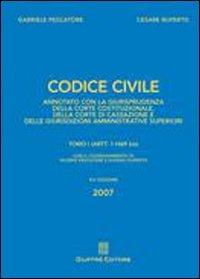 9788814134838: Codice civile. Annotato con la giurisprudenza della Corte costituzionale, della Corte di Cassazione e delle giurisdizioni amministrative superiori