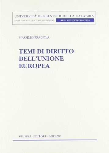 Temi di diritto dell'Unione Europea (8814143315) by Massimo Fragola