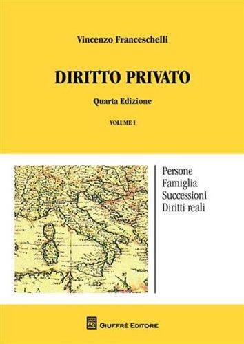 Diritto privato: 1: Franceschelli, Vincenzo