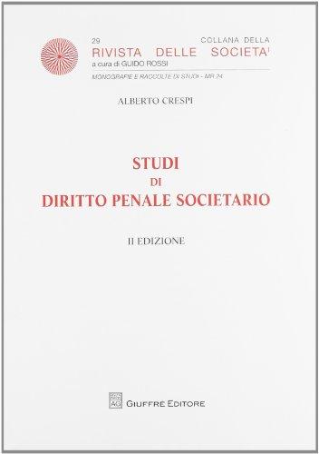 9788814153211: Studi di diritto penale societario