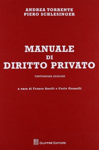 9788814172519: Manuale di diritto privato