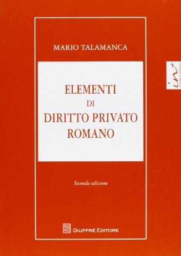 9788814174223: Elementi di diritto privato romano
