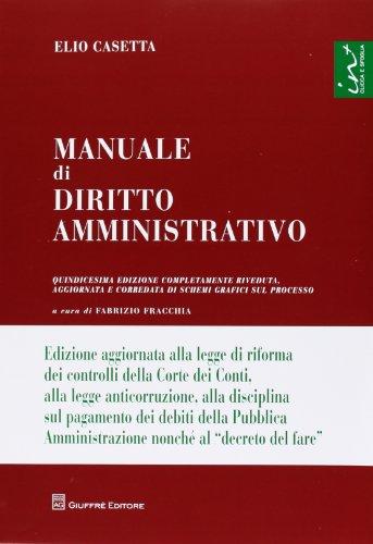 9788814180729: Manuale di diritto amministrativo