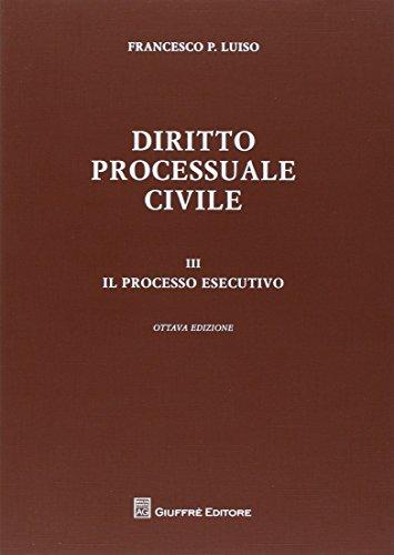 9788814183225: Diritto processuale civile: 3