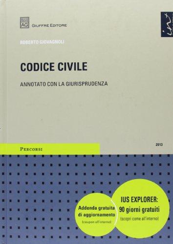 9788814184239: Codice civile. Annotato con la giurisprudenza