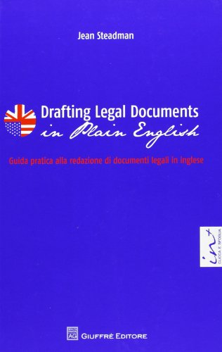 9788814184772: Drafting legal documents in plain english-Guida pratica alla redazione di documenti legali in inglese