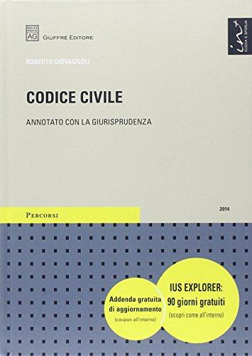 9788814187919: Codice civile. Annotato con la giurisprudenza