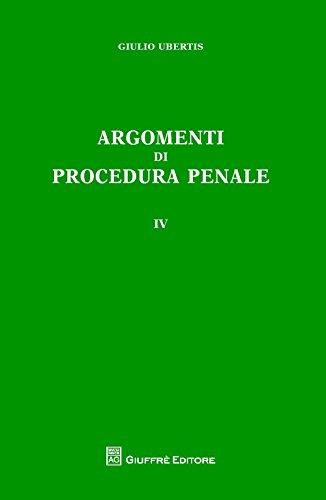 9788814211683: Argomenti di procedura penale: 4