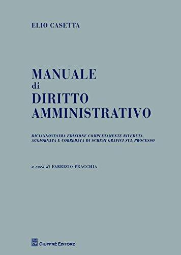 9788814222559: Manuale di diritto amministrativo