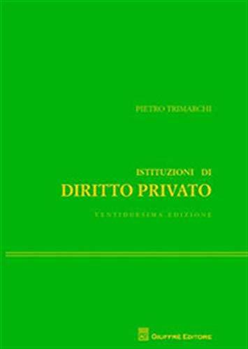 9788814227080: Istituzioni di diritto privato