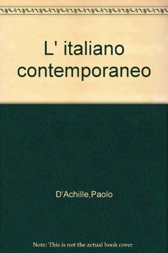 9788815088710: L' italiano contemporaneo