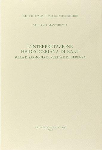 9788815106551: L'interpretazione heideggeriana di Kant. Sulla disarmonia di verità e differenza