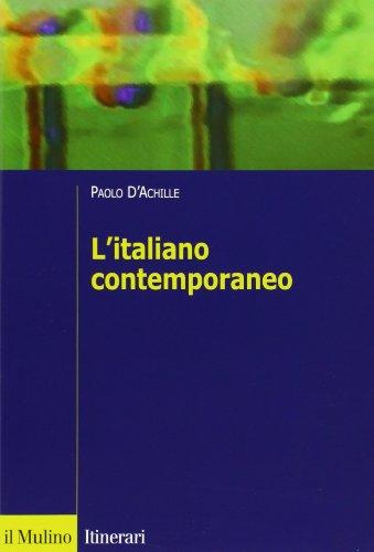 9788815138330: L'italiano contemporaneo