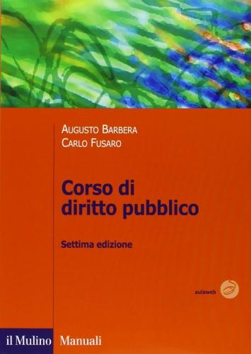 9788815234742: Corso di diritto pubblico (Manuali)
