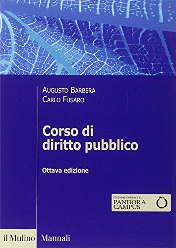 9788815252173: Corso di diritto pubblico (Manuali)