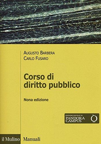 9788815265845: Corso di diritto pubblico (Manuali. Diritto)