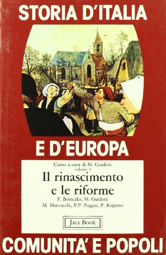 9788816400474: Storia d'Italia e d'Europa. Comunità e popoli: 3 (Di fronte e attraverso.St. Italia Europa)