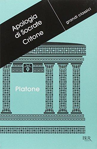 9788817059794: Apologia di Socrate-Critone. Testo greco a fronte