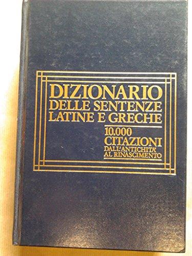 9788817063357: Dizionario delle sentenze latine e greche