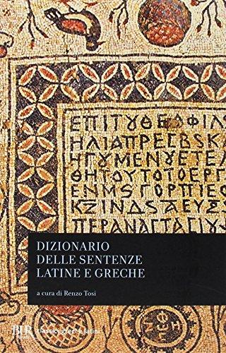 9788817095037: Dizionario delle sentenze latine e greche