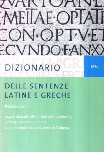 9788817146364: Dizionario delle sentenze latine e greche