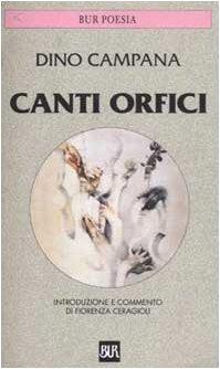 9788817166935: Canti Orfici (BUR) (Italian Edition)