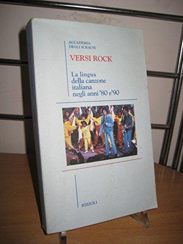 9788817844505: Versi rock: La lingua della canzone italiana negli anni '80 e '90 (Italian Edition)