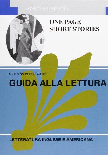 9788820104153: One page short stories  Per le Scuole superiori