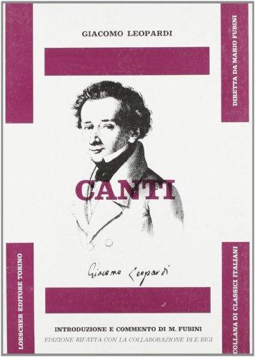 9788820111595: Canti (Classici italiani)