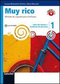 9788820131838: Muy rico. Libro del alumno-Cuaderno de ejercicios. Per la Scuola media. Con CD Audio. Con espansione online: 1