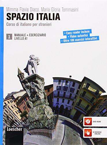 9788820133481: Spazio Italia. Corso di italiano per stranieri. Con CD-ROM. Con espansione online (Vol. 1): Manuale + Eserciziario 1 + DVD-ROM (A1)