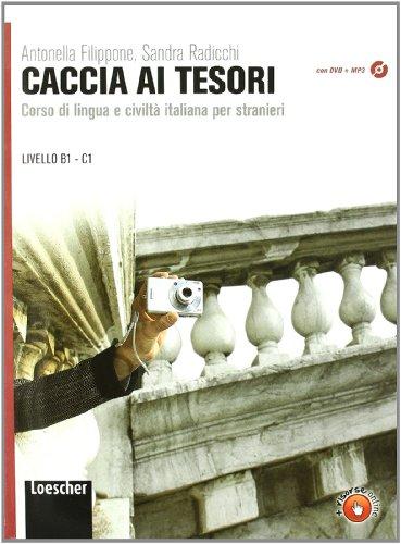9788820133627: Caccia ai tesori. Corso di lingua e civiltà italiana per stranieri. Per le Scuole superiori. Con CD-ROM. Con espansione online