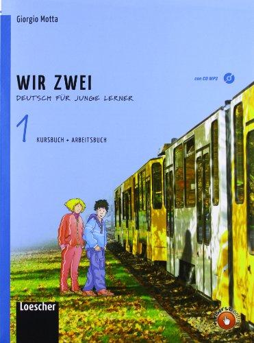 9788820134273: Wir zwei. Kursbuch-Arbeitsbuch. Per la Scuola media. Con CD Audio formato MP3. Con espansione online: 1